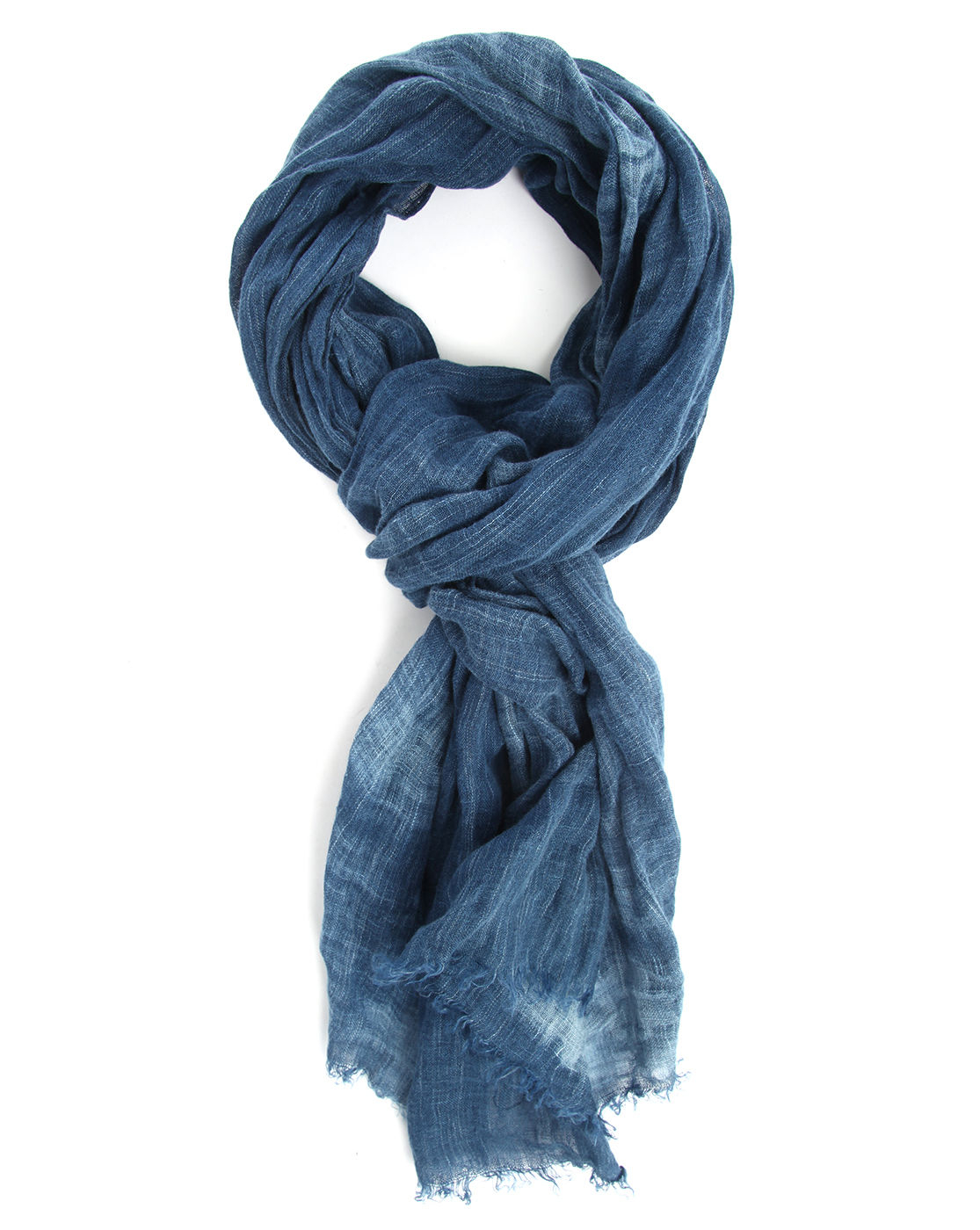 hilfiger dyed indigo blue scarf in blue for