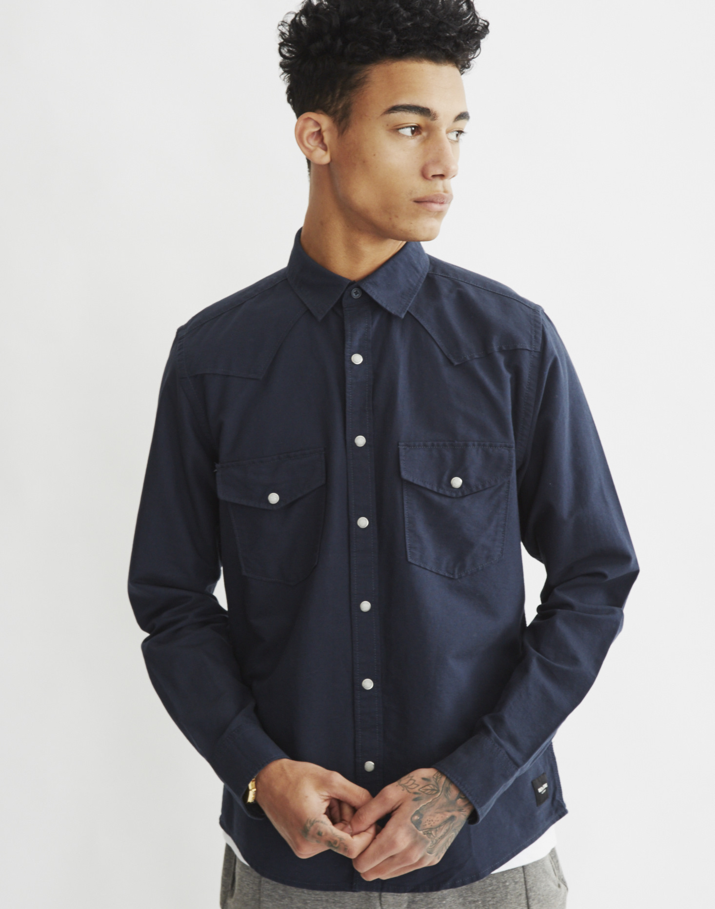 Only sons mens oxford shirt blue in blue for men lyst for Mens blue oxford shirt