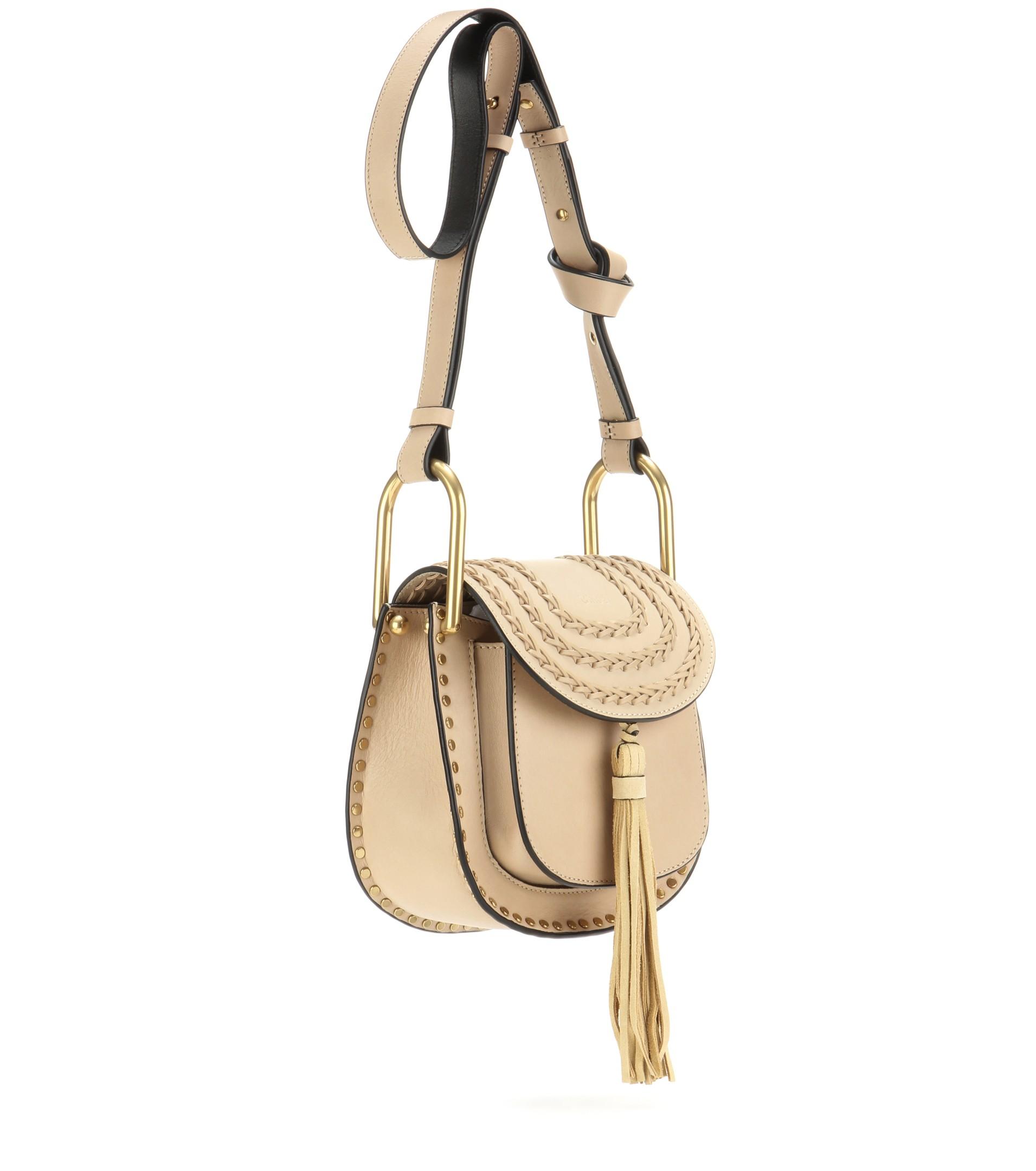 7cd7db98892 Chloé Hudson Leather Shoulder Bag in Natural - Lyst