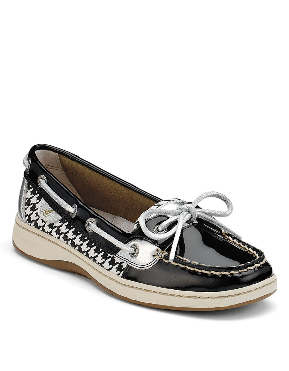 bbf7359d0af Sperry Top-Sider Angelfish Patent Leather Boat Shoes in Black - Lyst