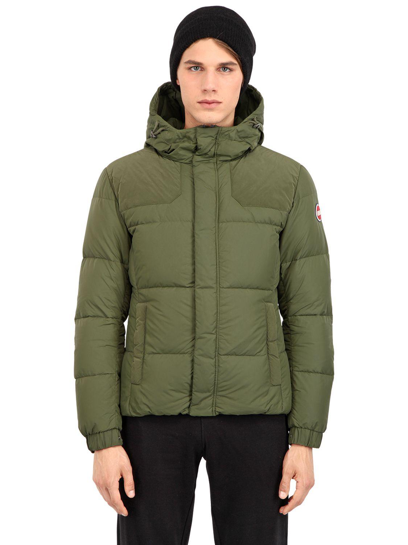 colmar i love the 80s nylon down jacket in green for men lyst. Black Bedroom Furniture Sets. Home Design Ideas
