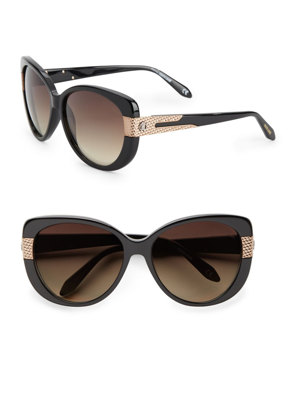 224a81e95a34 Roberto cavalli Round Cat  39 S-Eye Quilted Detail Sunglasses in Black