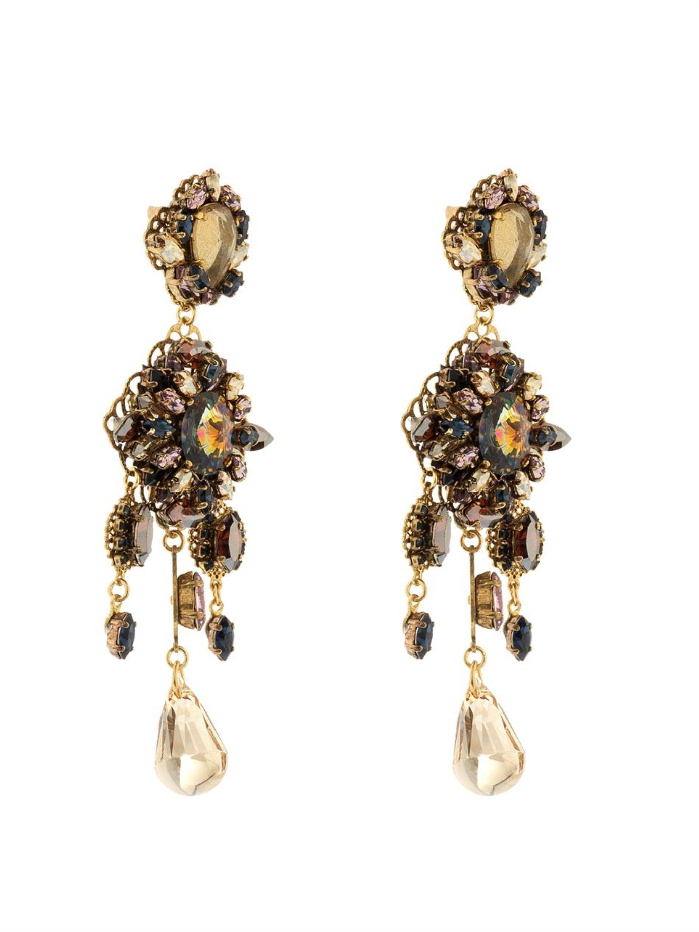 erickson beamon marchesa gold plated earrings in