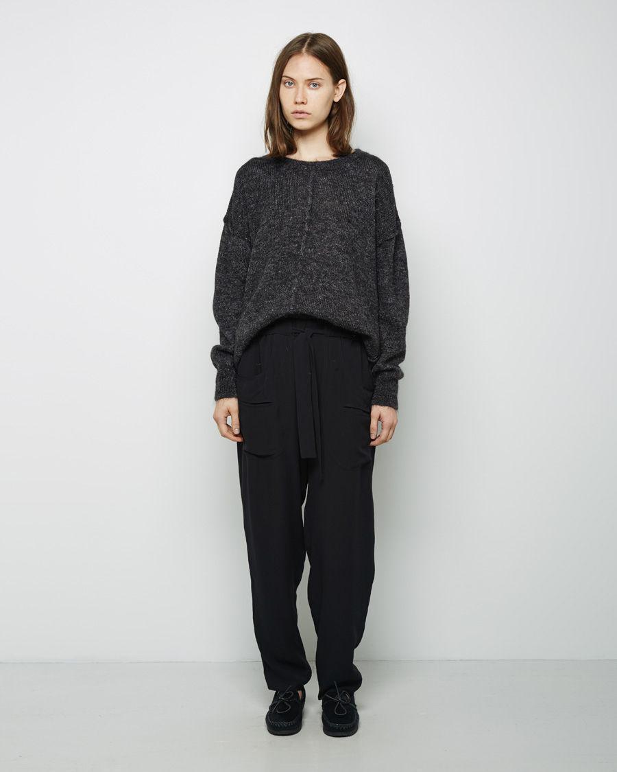 isabel marant tam mohair pullover in black lyst. Black Bedroom Furniture Sets. Home Design Ideas