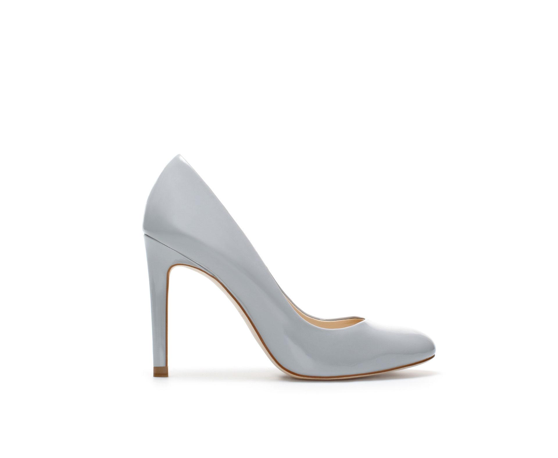 Silver Grey High Heel Shoes - Is Heel