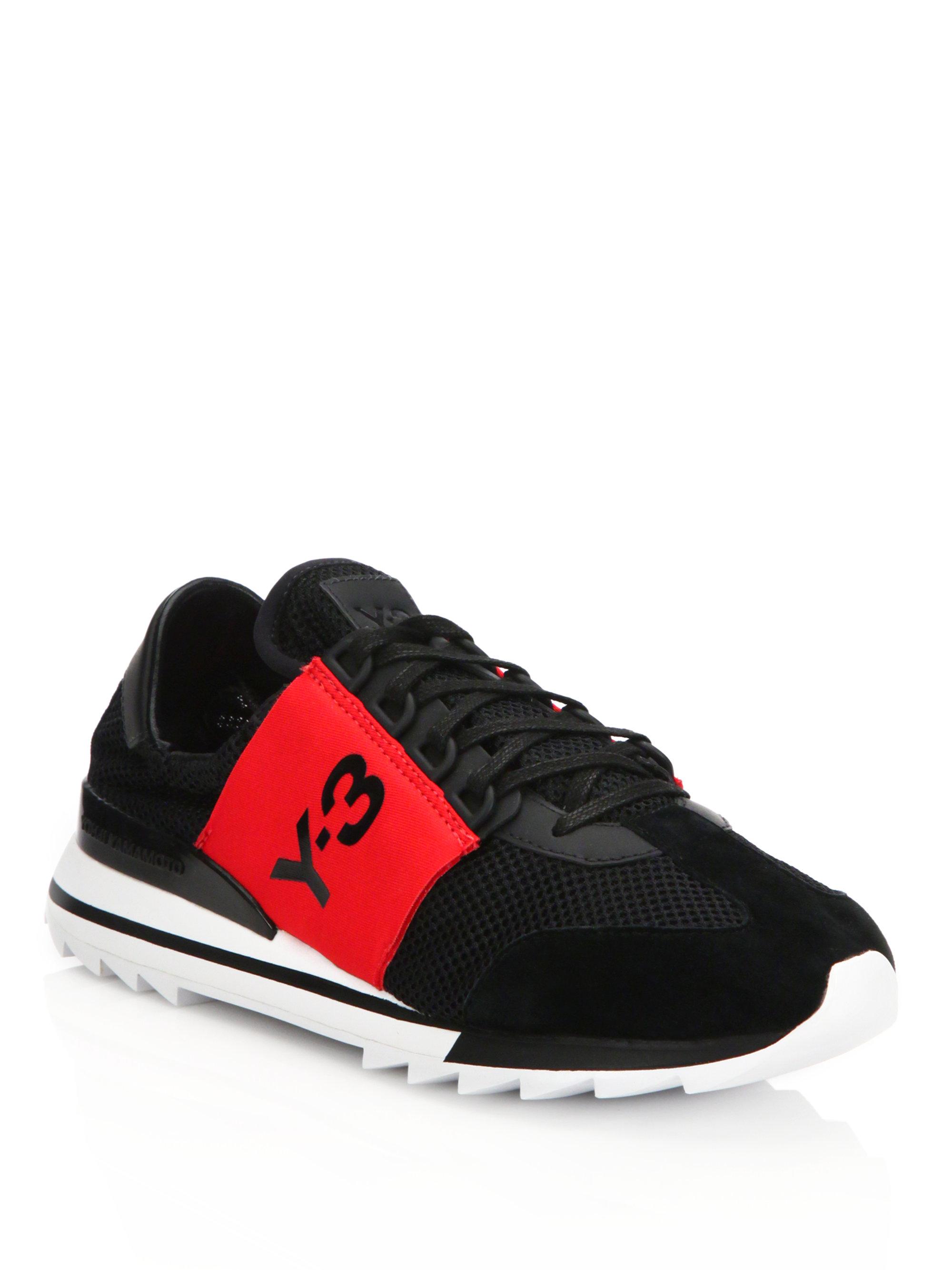Y 3 Rhita Sport Sneakers In Red Black Red Lyst