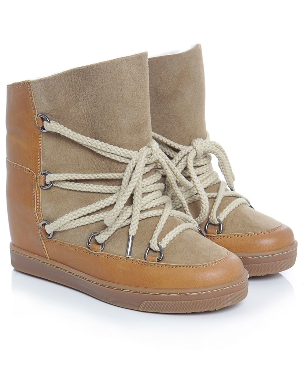 Isabel Marant Camel Nowles Snow Boots Authentic For Sale 2018 New Limited New Big Discount Sale Online DkIV9l6nS
