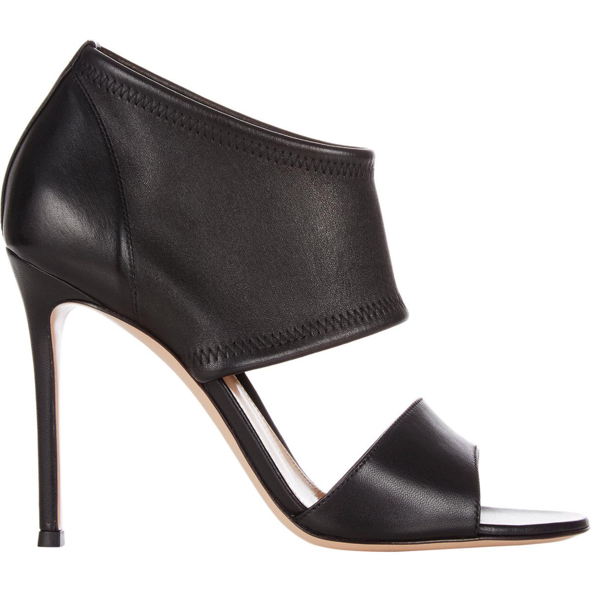 gianvito stretch ankle cuff sandals in black lyst