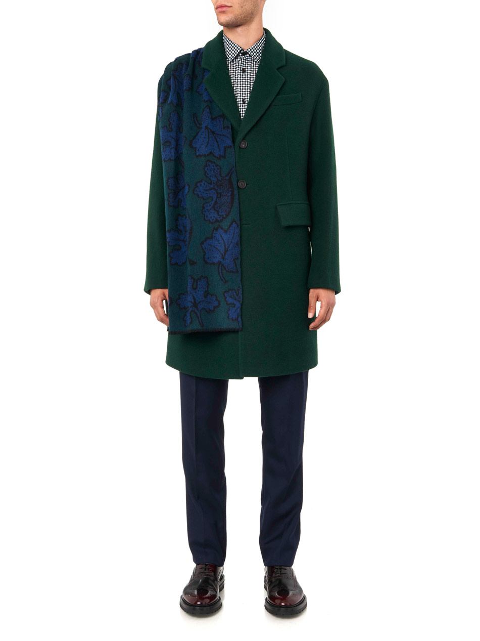 fde1fcc6b Burberry Prorsum Leaf-Motif Heavy-Cashmere Scarf in Green for Men - Lyst