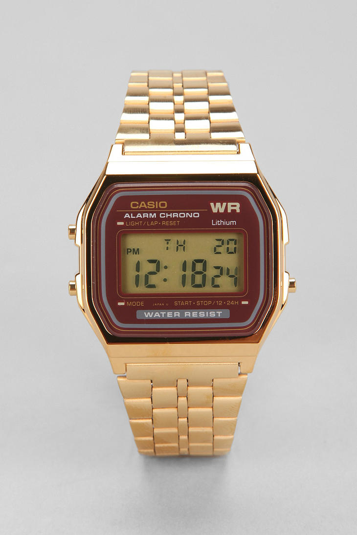 G Shock Classic Gold Amp Red Watch In Metallic For Men Lyst