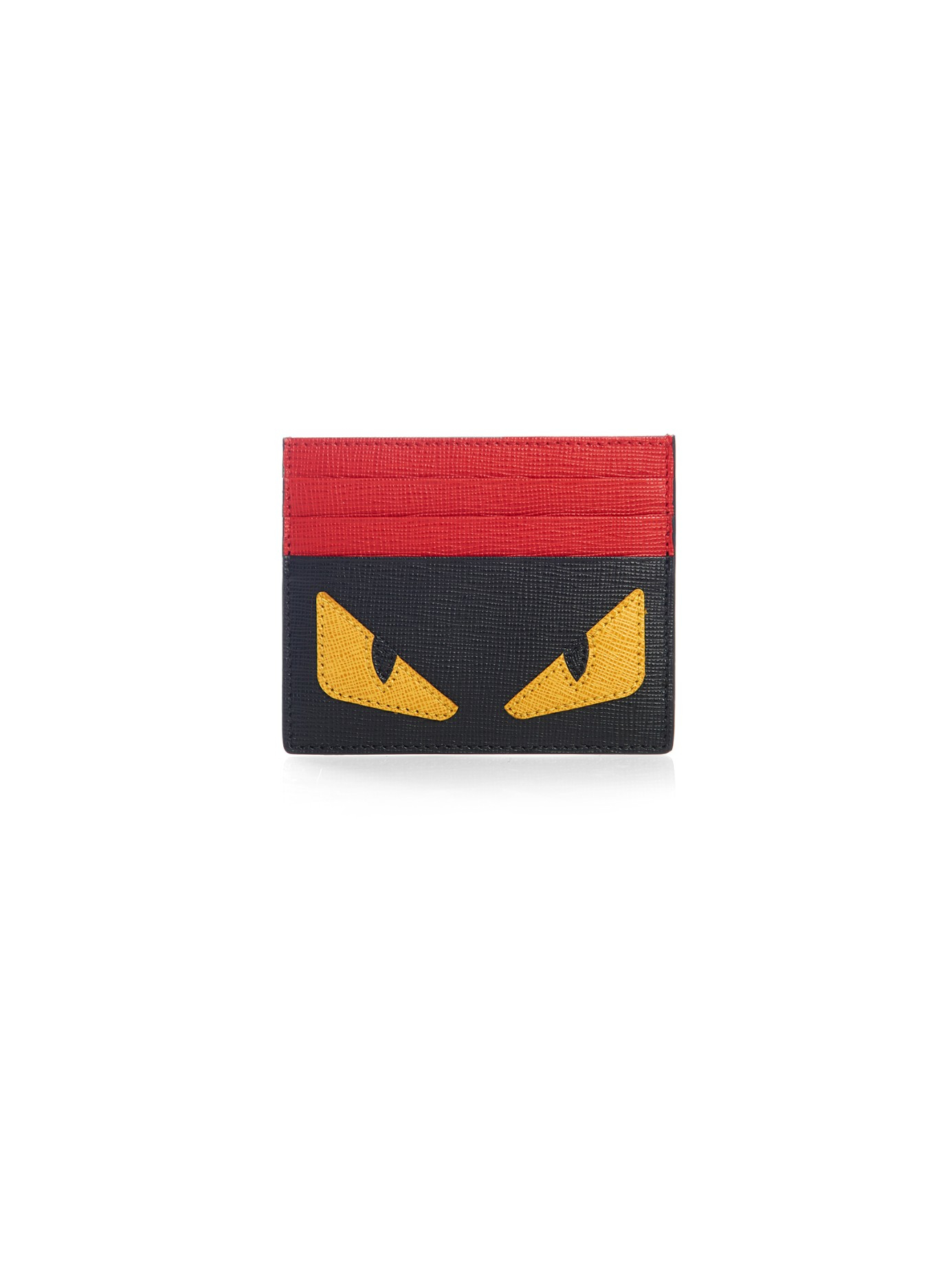 807fdb865b Fendi Bag Bugs Leather Cardholder in Black for Men - Lyst