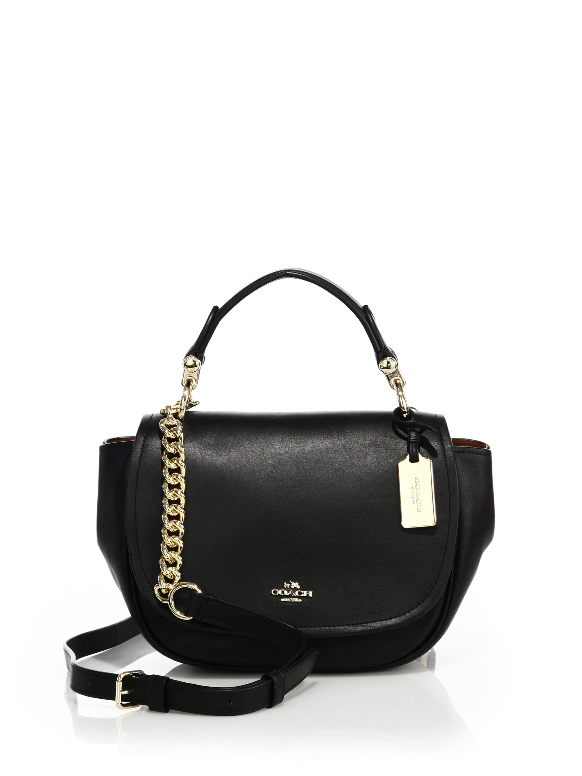 Coach Nomad Leather Crossbody Bag in Black | Lyst