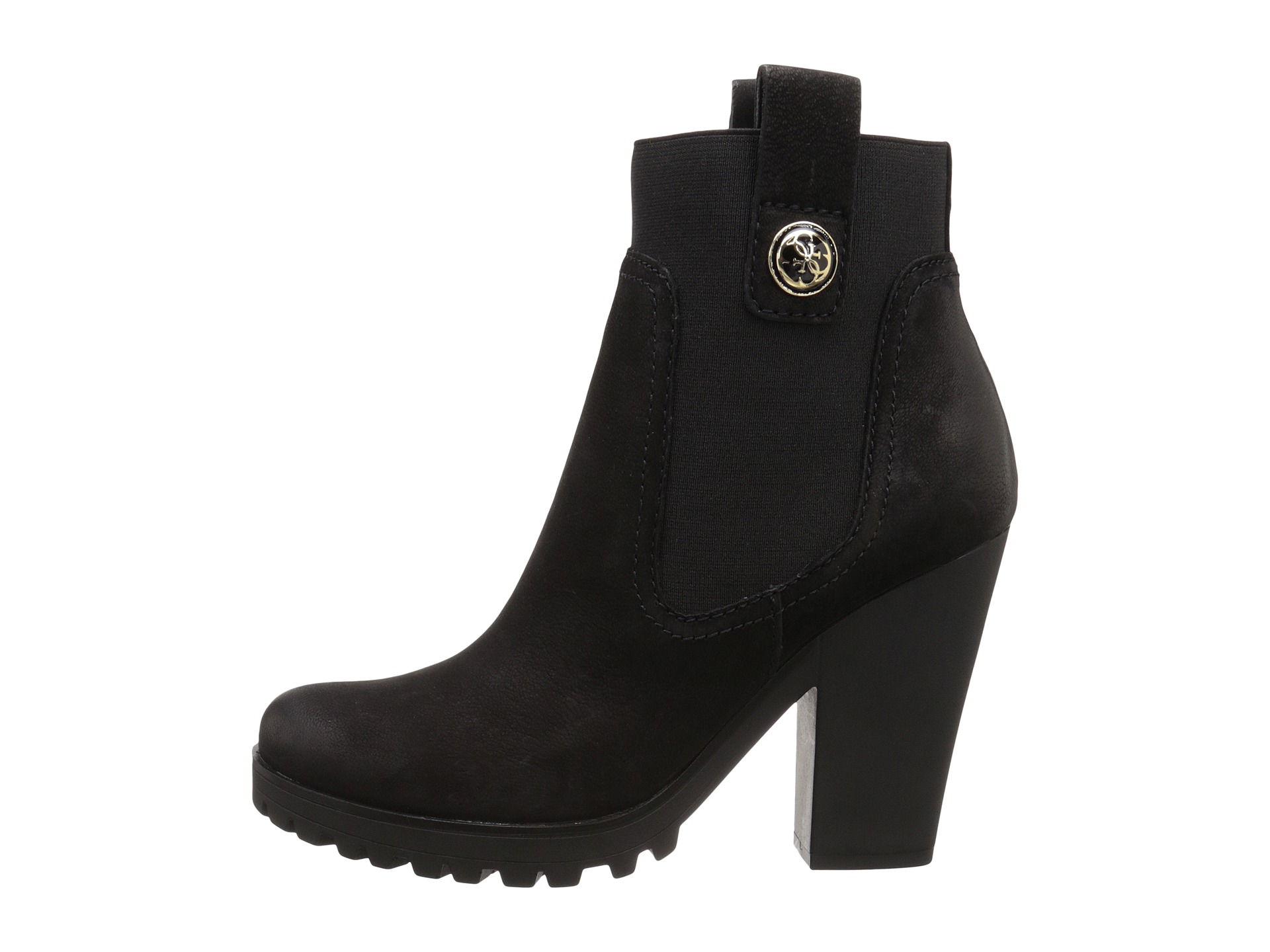 Womens Boots GUESS Cariss Black Leather