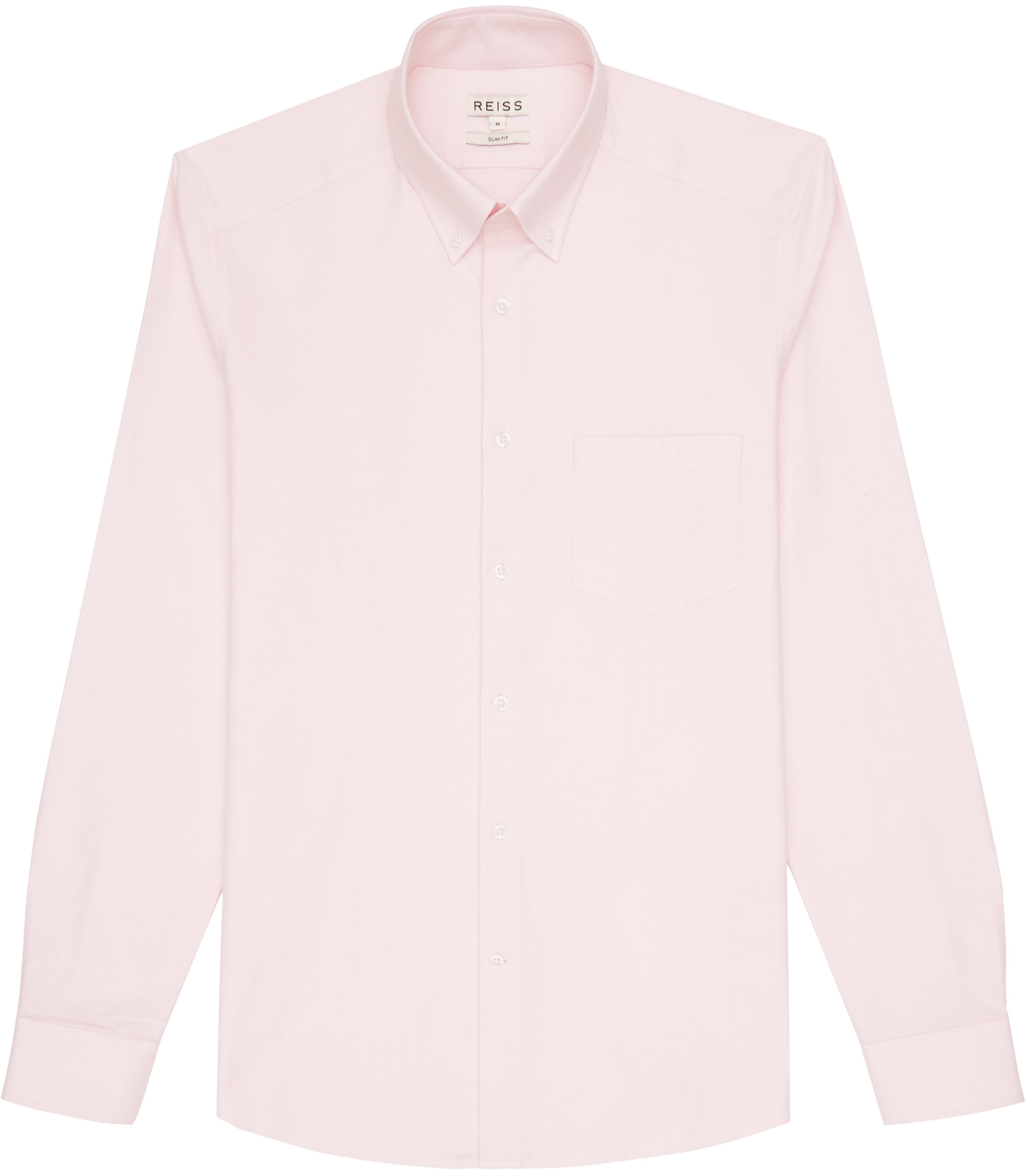 Reiss aintree oxford shirt in pink for men lyst for Pink oxford shirt men