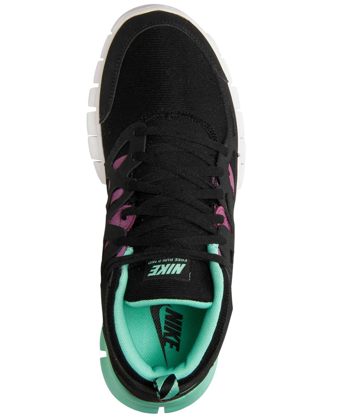 meet f11aa 5ebec ... closeout lyst nike womens free run 2 mid sneakerboot from finish line  in black 75e8d 9f5ac