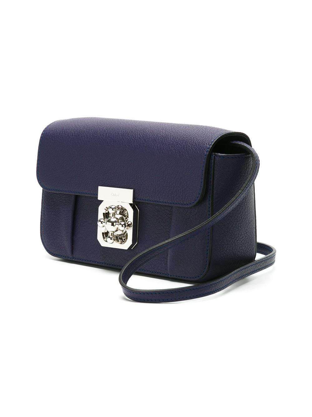 Chlo¨¦ \u0026#39;elsie\u0026#39; Shoulder Bag in Blue   Lyst