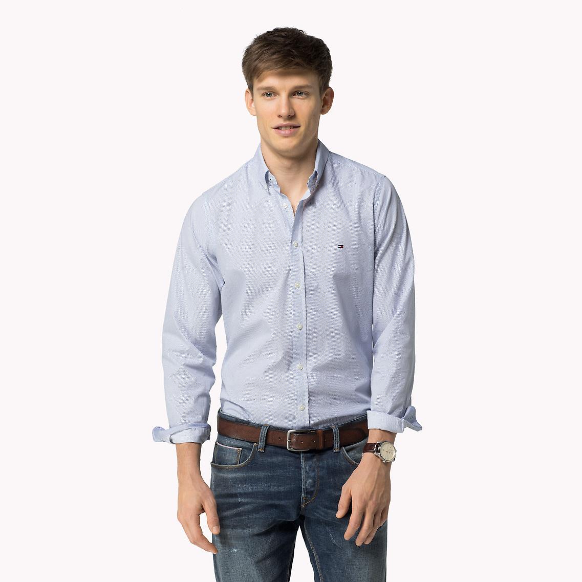 Tommy Hilfiger Cotton Regular Fit Shirt In Blue For Men