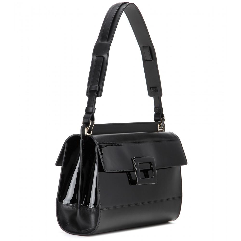 Roger vivier Miss Viv' Bandeau Leather Shoulder Bag in ...