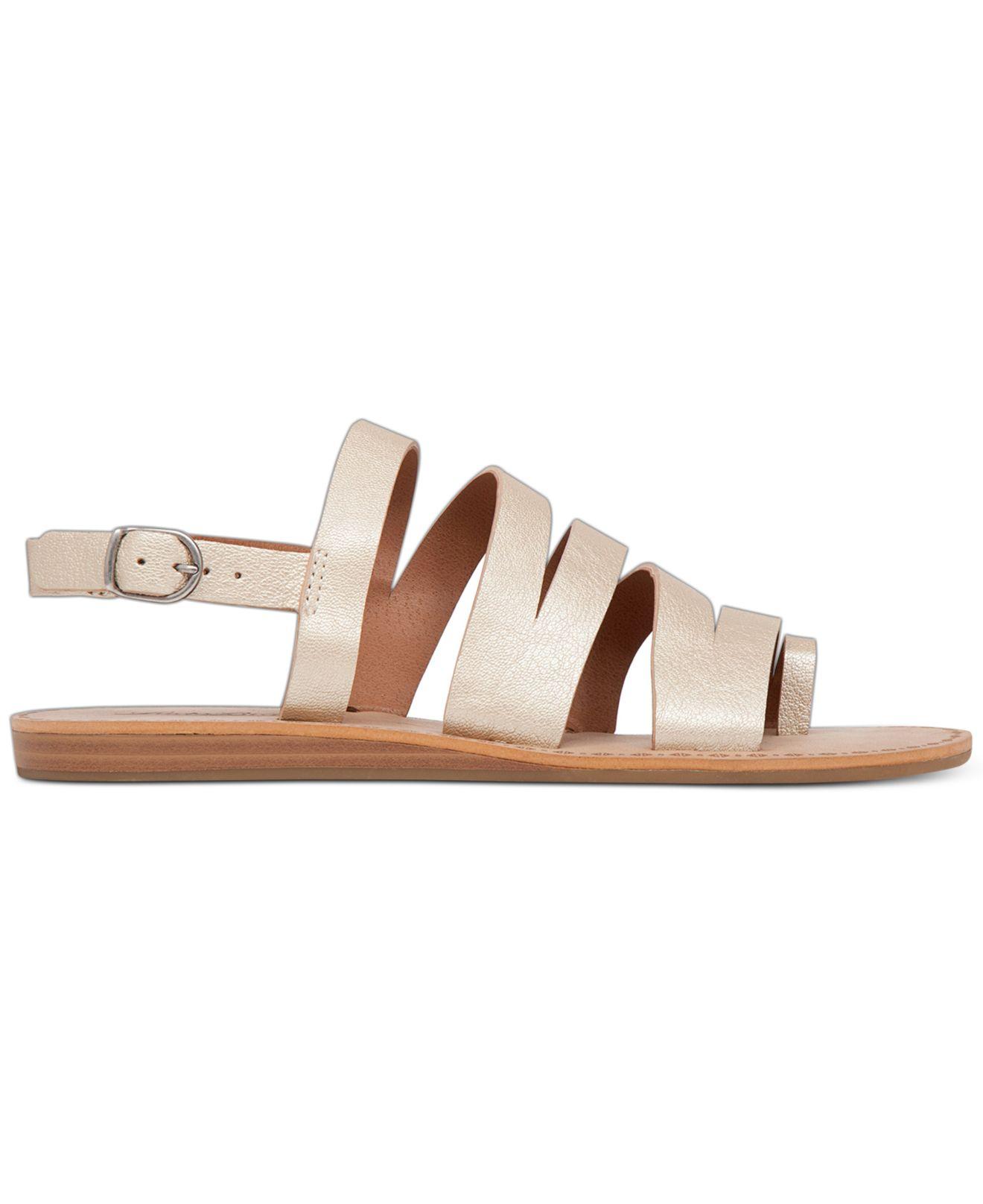 cb3a9dc202c Lyst - Lucky Brand Women s Fairfaxx Toe Thong Flat Sandals in Brown