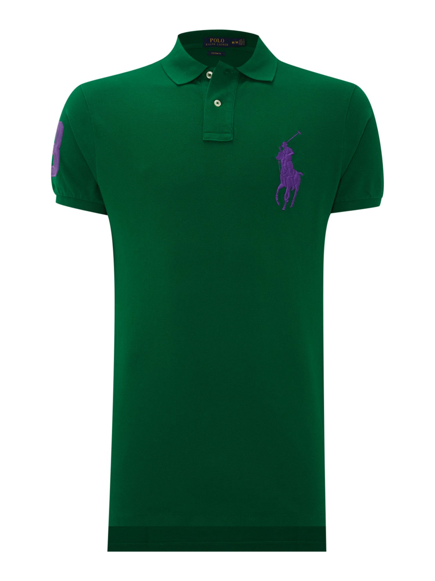 Polo ralph lauren Custom Fit Short Sleeve Big Pony Polo Shirt in Green for Men |
