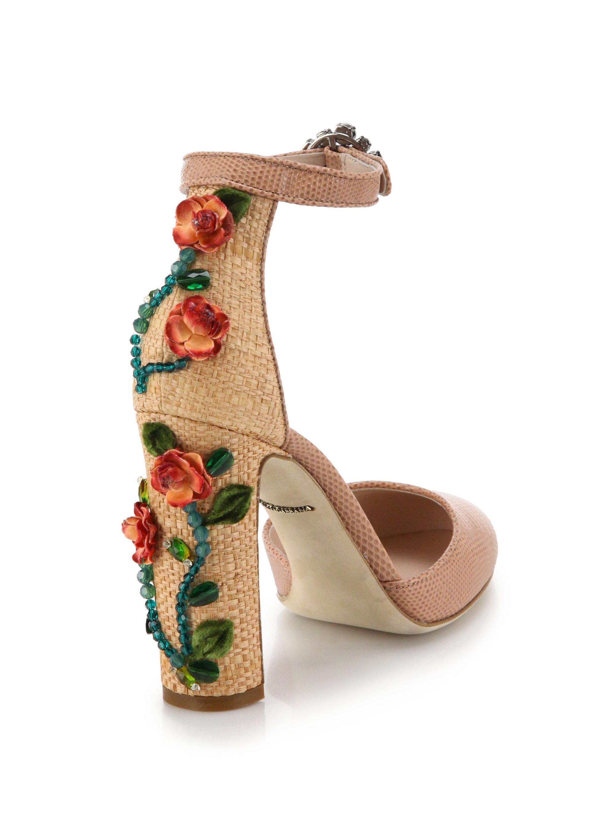 footlocker finishline online with paypal sale online Dolce & Gabbana Leather Embossed Sandals F55L0Ql8B