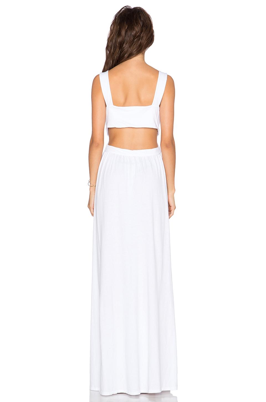 817fa52d98781 Bobi Supreme Jersey Cut Out Maxi Dress in White - Lyst