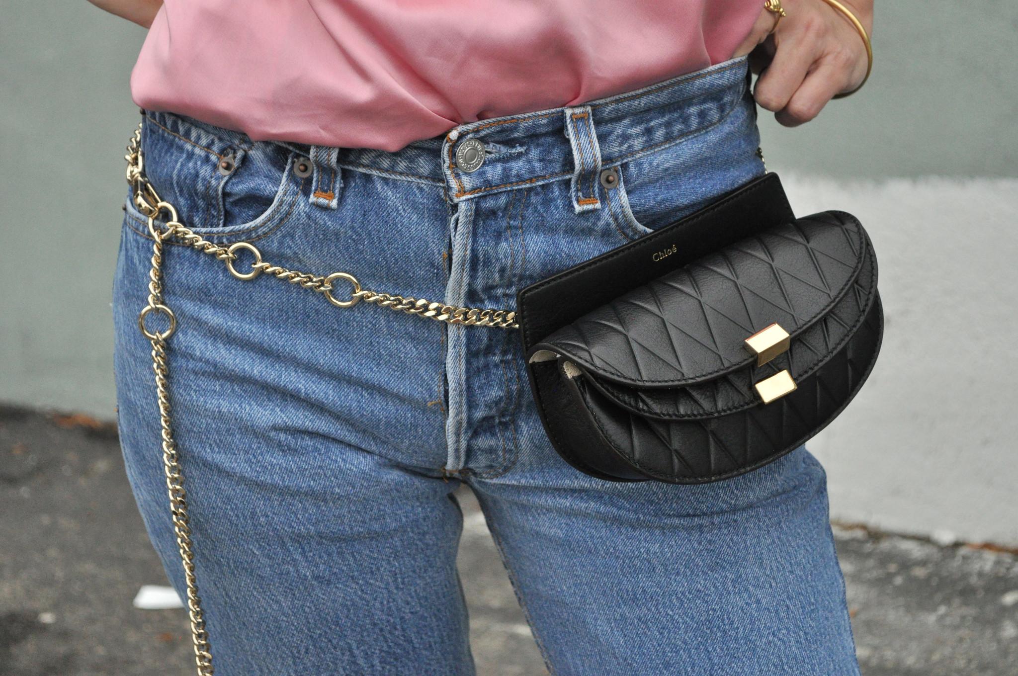 Chlo¨¦ Georgia Leather Bum Bag in Black | Lyst