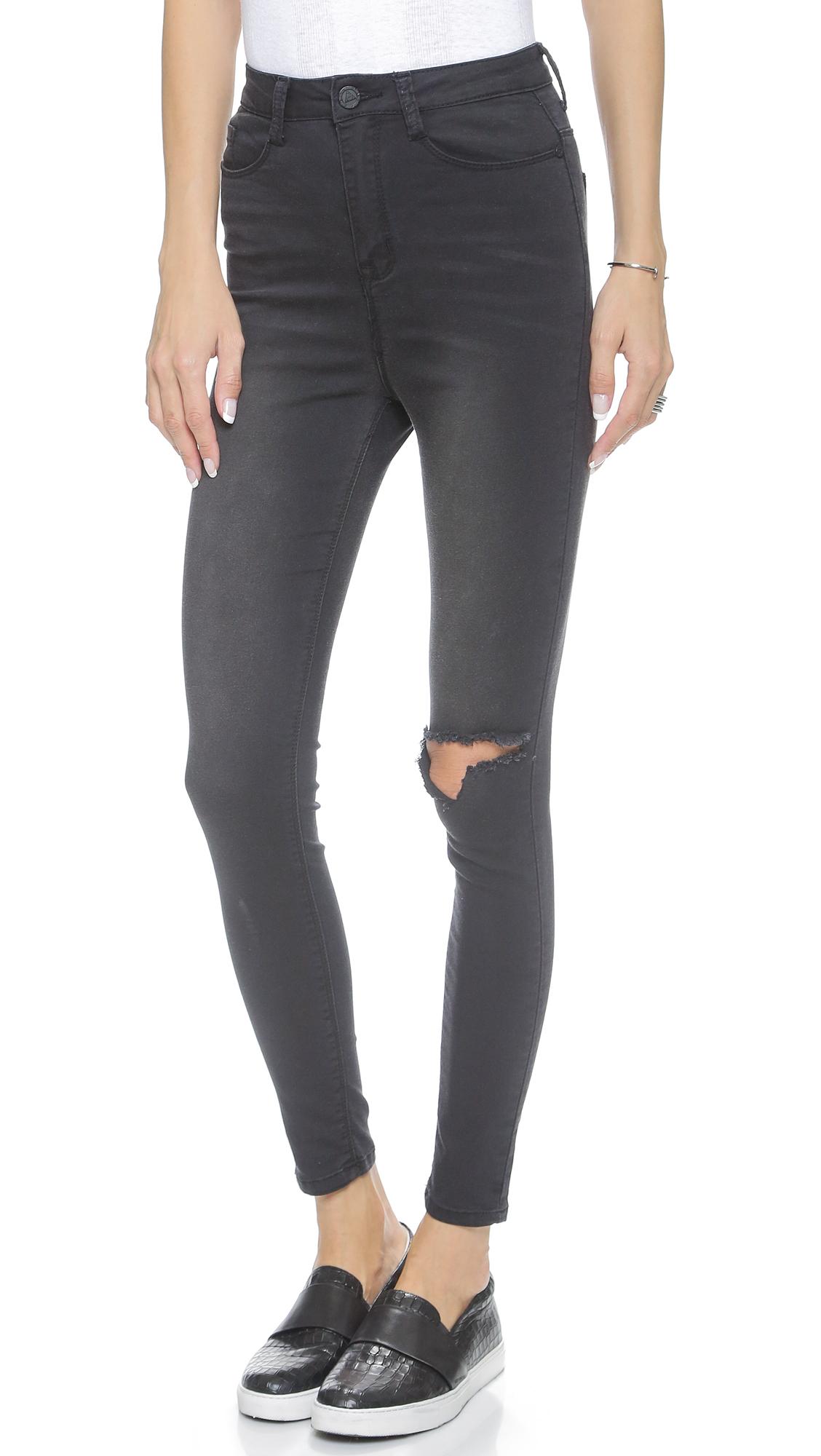 Lyst - Unif Via Jeans - Faded Black in Black