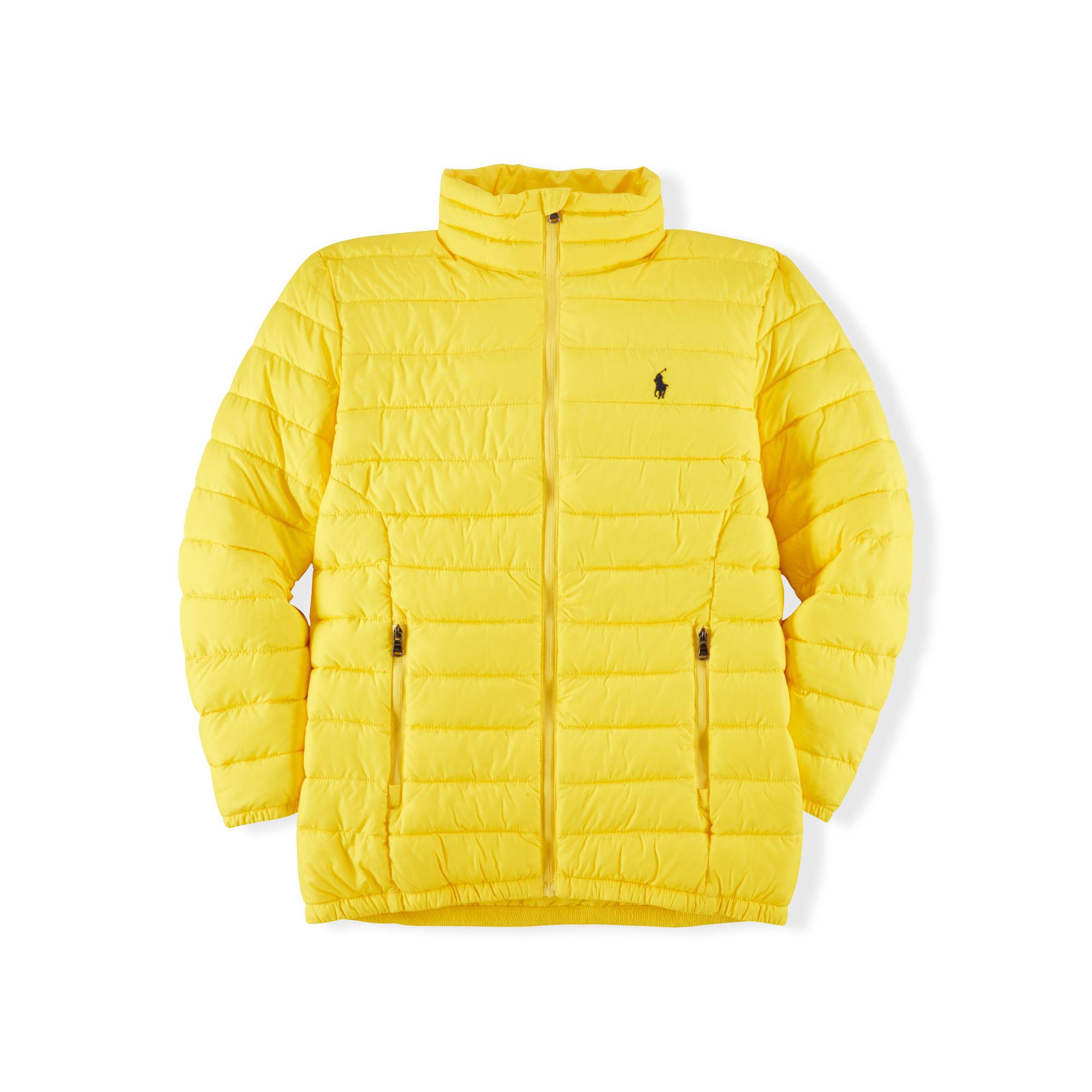 4558124e2 Ralph Lauren Lightweight Puffer Jacket in Yellow - Lyst