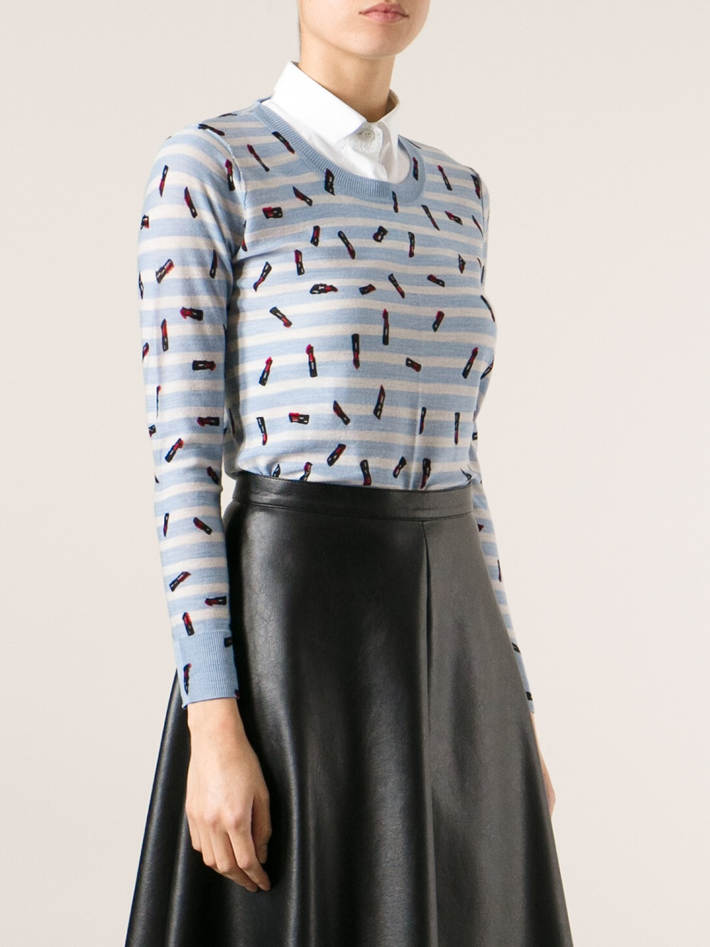 Release Dates For Sale Cheapest Online Sonia Rykiel lips print cardigan Free Shipping Affordable Sast IEOUsG
