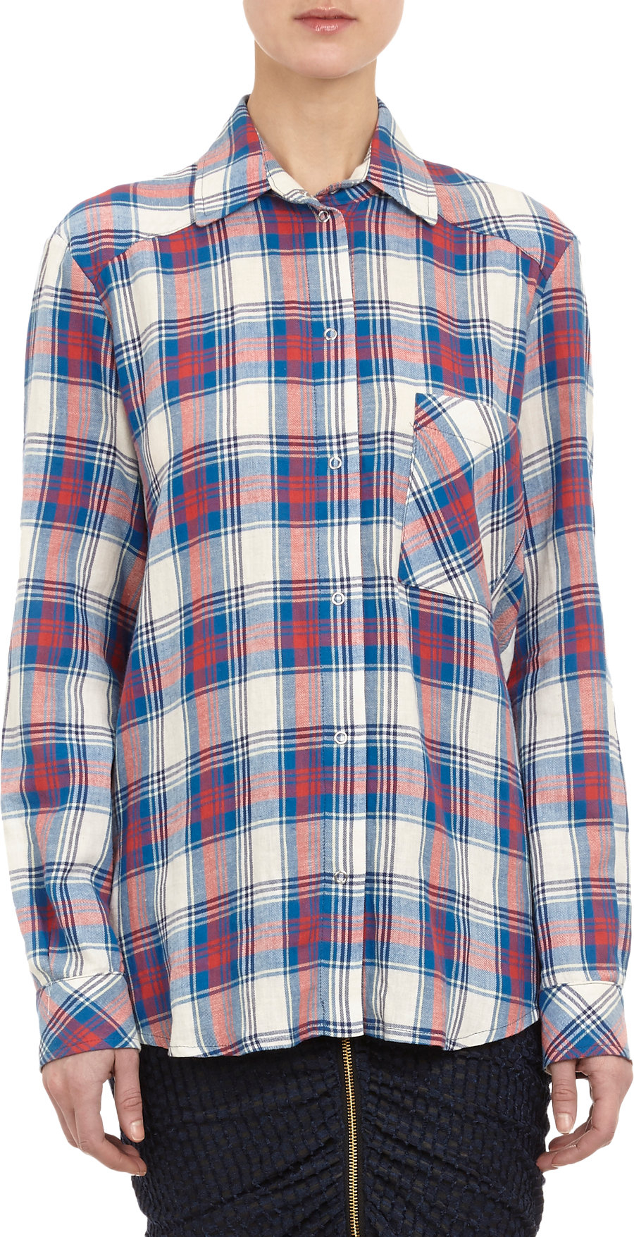 Lyst Roseanna Plaid Flannel Shirt In Red