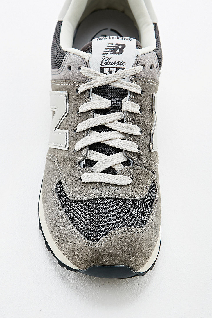 best sneakers 7c9cf 2bf5a New Balance 574 Classic Grey Suede Trainers in Gray for Men ...