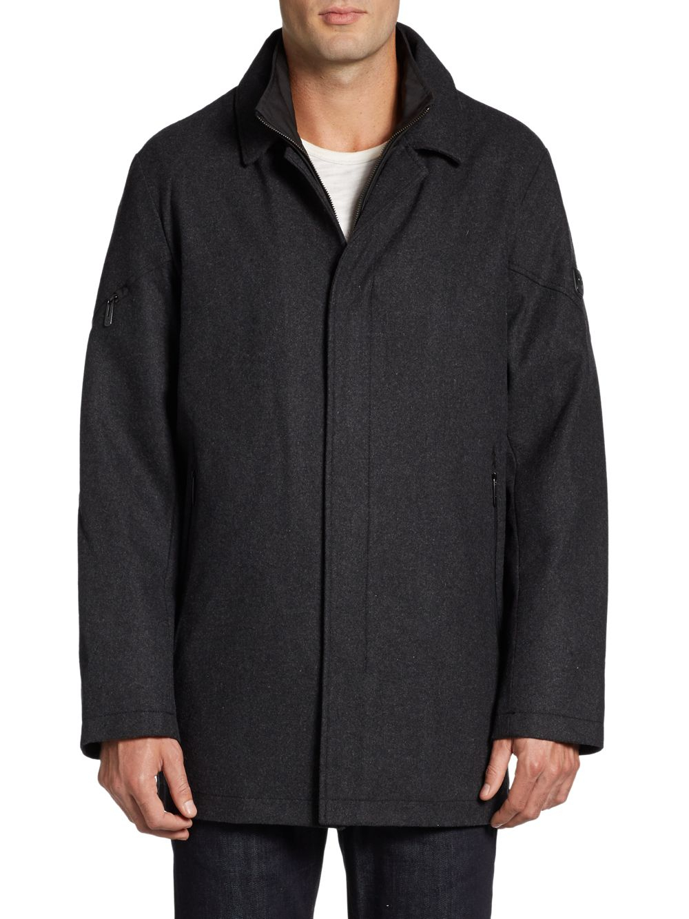 Tumi Waterproof Wool Blend Jacket In Black For Men Lyst