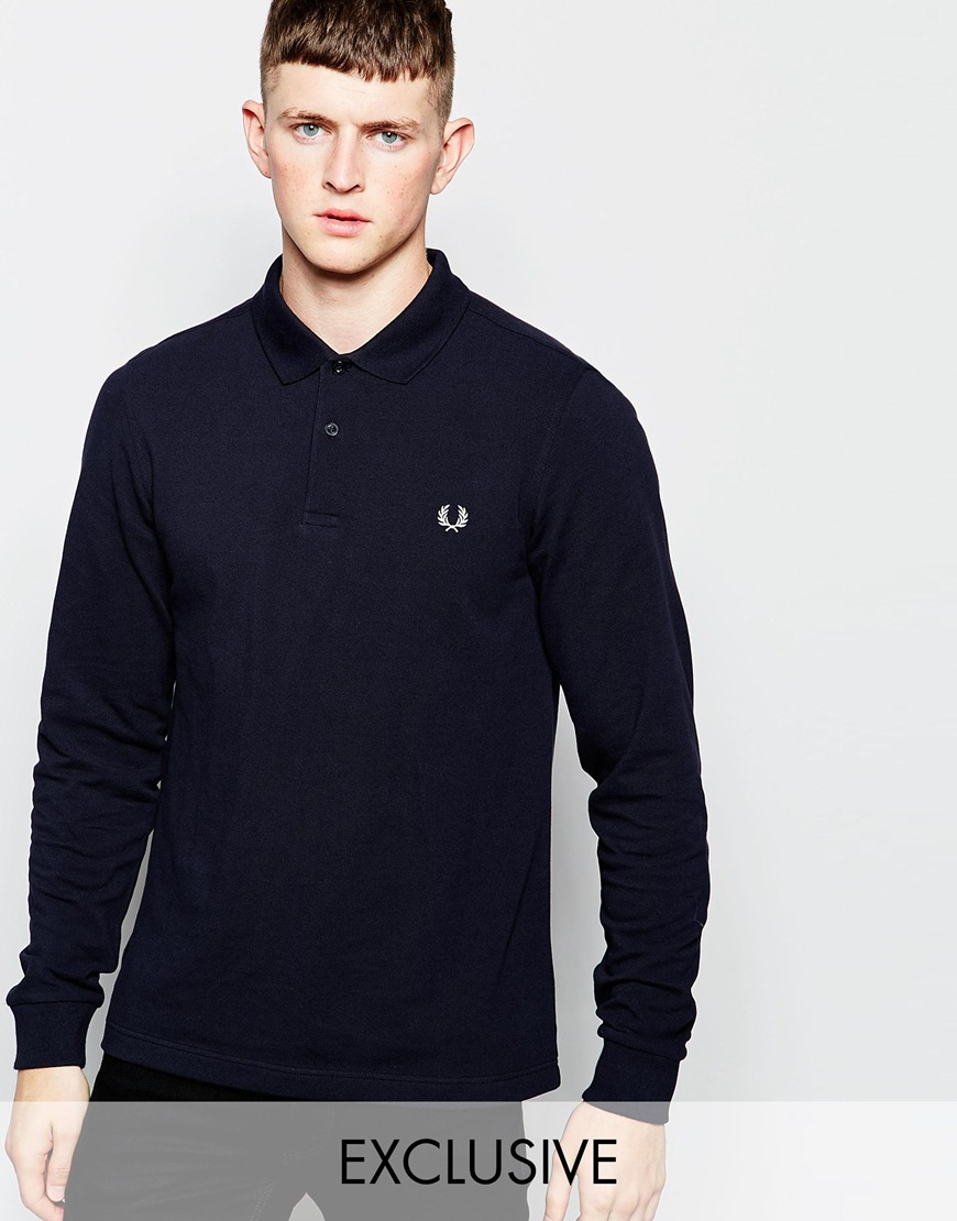 Lyst Fred Perry Long Sleeve Polo Shirt In Slim Fit Exclusive In