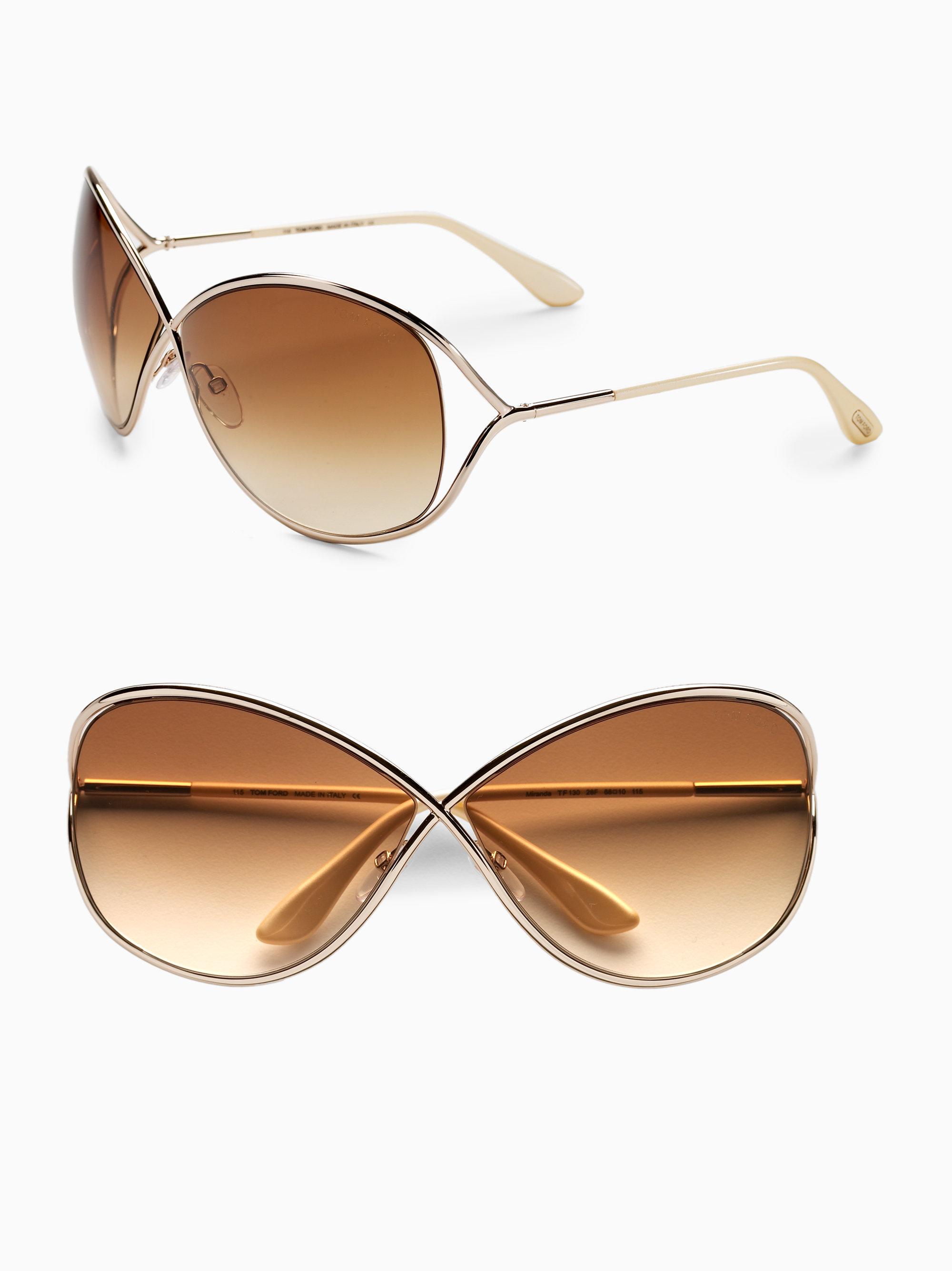 a71b8d4db9c Tom ford Miranda Oversized Round Sunglasses in Metallic