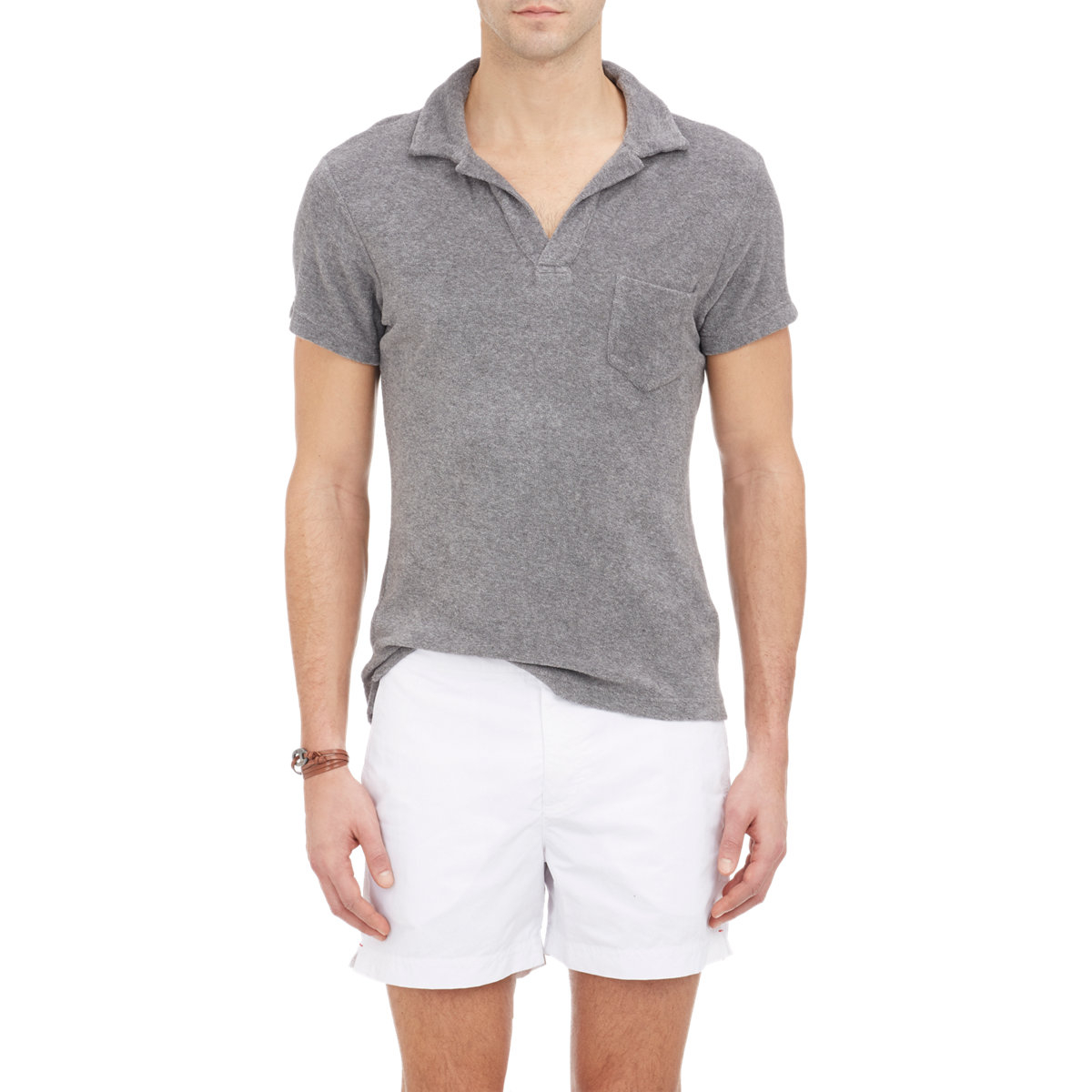 a4f43b721 Orlebar Brown Men's Terry Cloth Polo Shirt in Gray for Men - Lyst