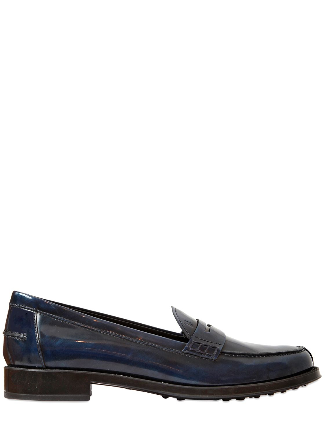 67d77018ec4 Lyst - Tod s 25Mm Brushed Leather Penny Loafers in Blue for Men