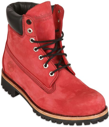 Timberland Special Edition 6 Inch Boots in Red for Men | Lyst