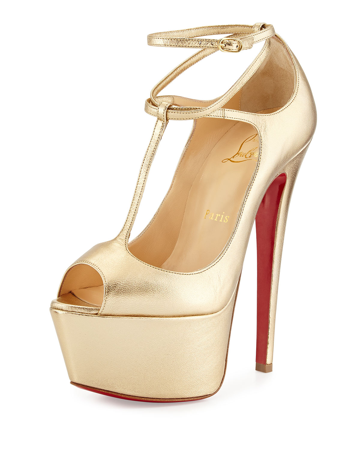 Lyst Christian Louboutin Talitha Platform Red Sole Pump