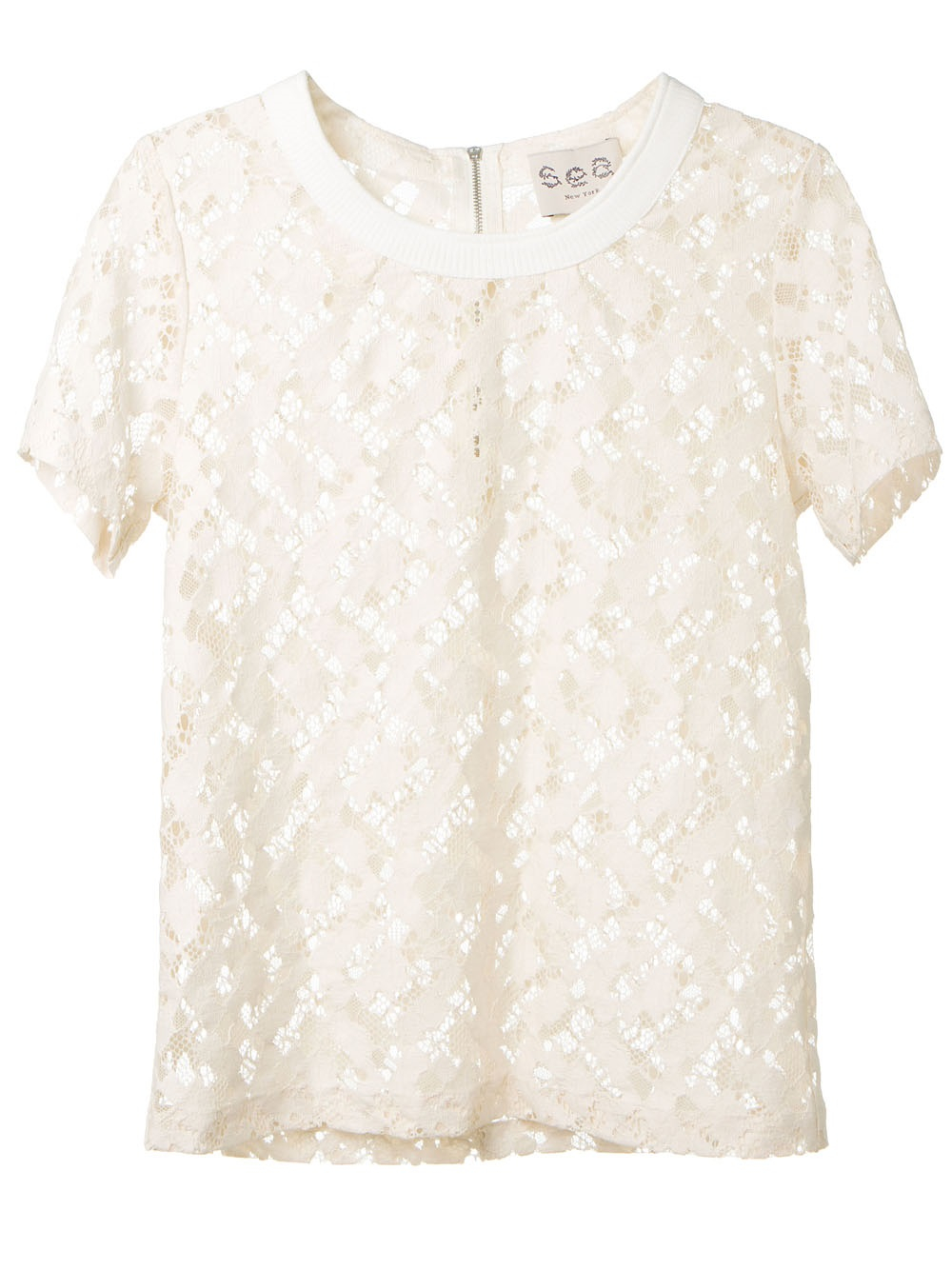 27cfb48d265a68 Lyst - Sea Floral Lace Top in White