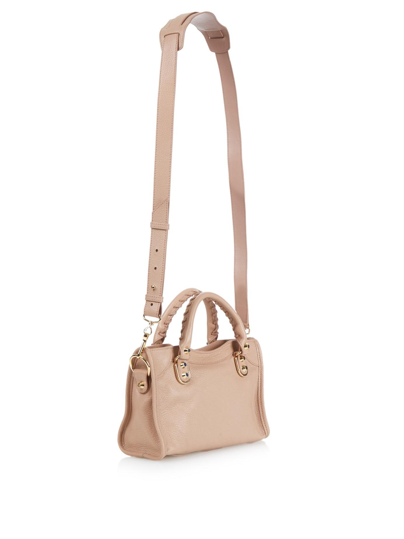 2690647deb Balenciaga Classic Mini City Metallic-Edge Cross-Body Bag in Pink - Lyst