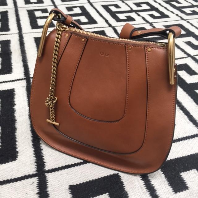 chloe elsie shoulder bag - hayley hobo in perforated smooth calfskin