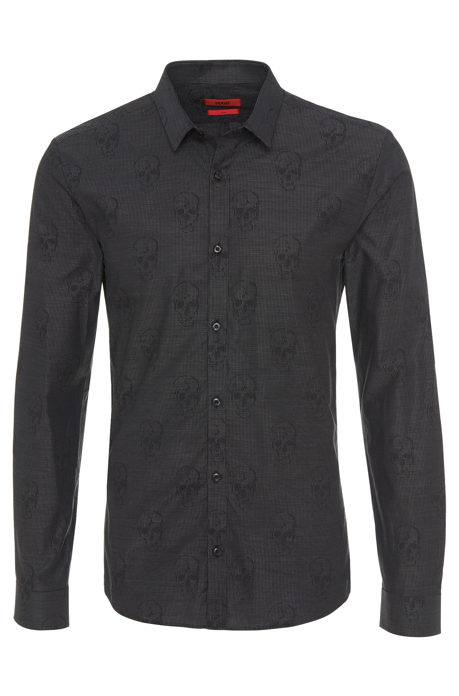 0298ebb3a HUGO Slim-fit Shirt In Cotton: 'ero3' in Black for Men - Lyst