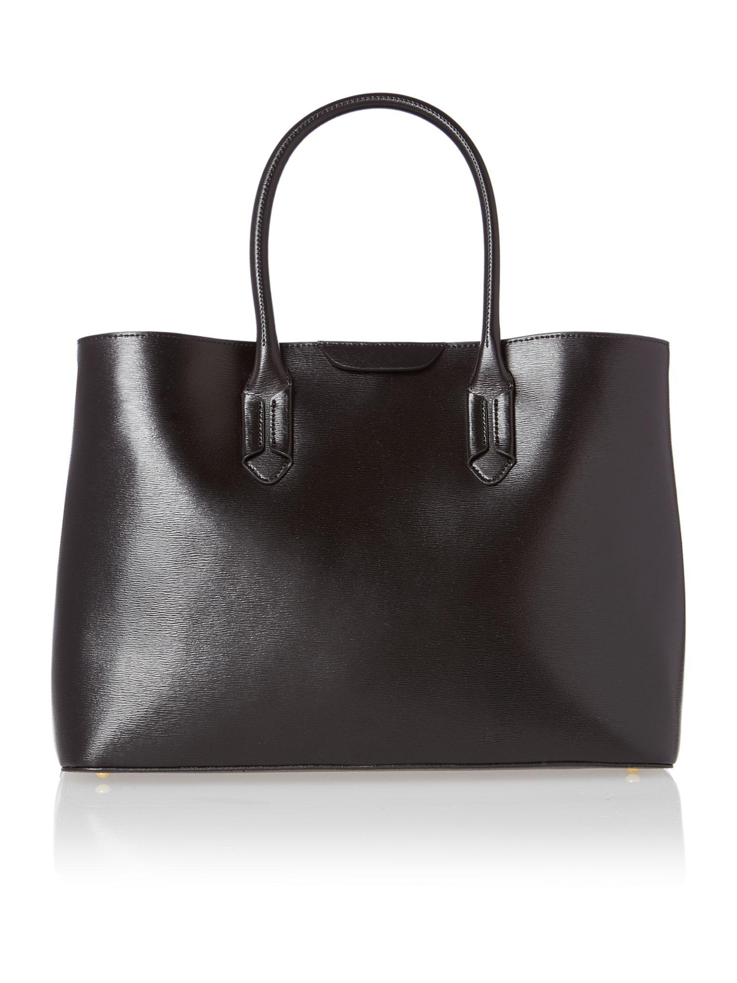 Ralph Lauren City Laukku : Lauren by ralph black large city tote bag in