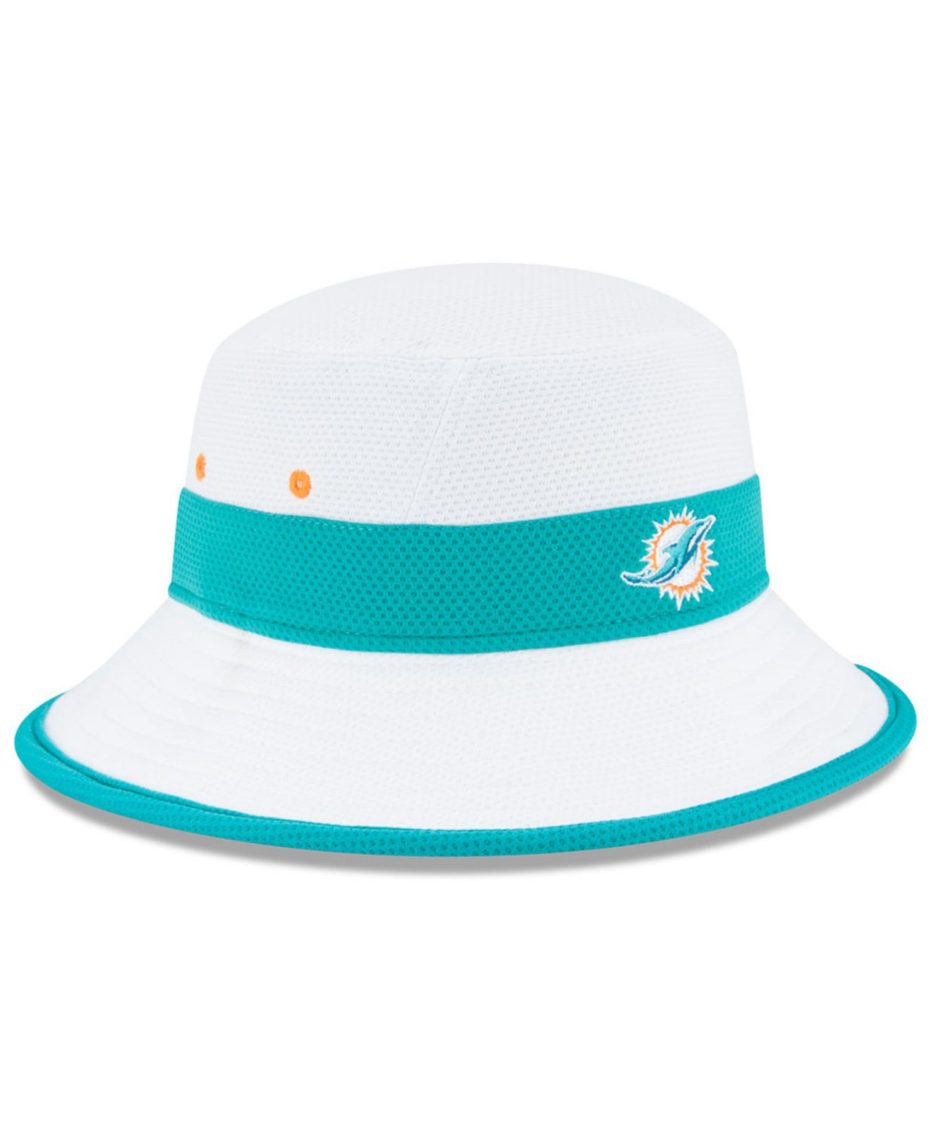 Lyst - KTZ Miami Dolphins Training Camp Official Bucket Hat in White ... bee7ab03ad3f