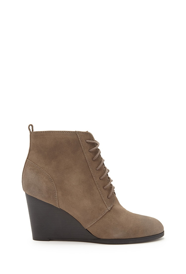 Deck out your wardrobe with Wedge Booties. Discover Brown Wedge Booties, Black Wedge Booties and more at Macy's. Macy's Presents: The Edit- A curated mix of fashion and inspiration Check It Out. Free Shipping with $99 purchase + Free Store Pickup. Contiguous US. UGG® Women's Jeovana Wedge Lace-Up Booties.