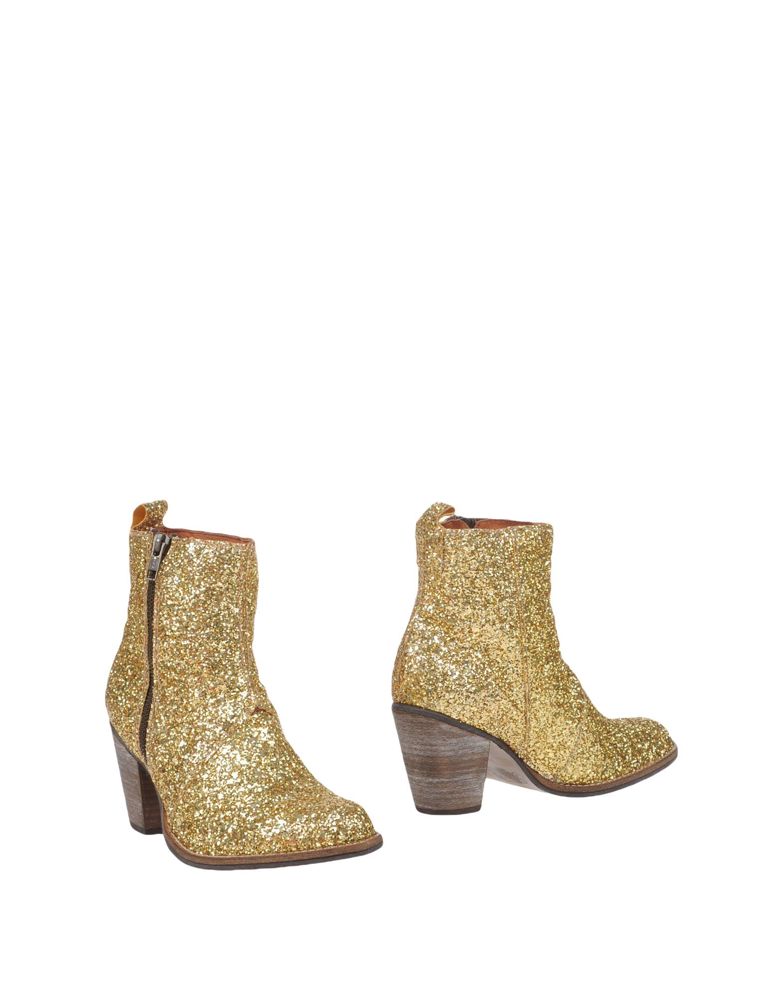 buffalo ankle boots in gold save 61 lyst. Black Bedroom Furniture Sets. Home Design Ideas