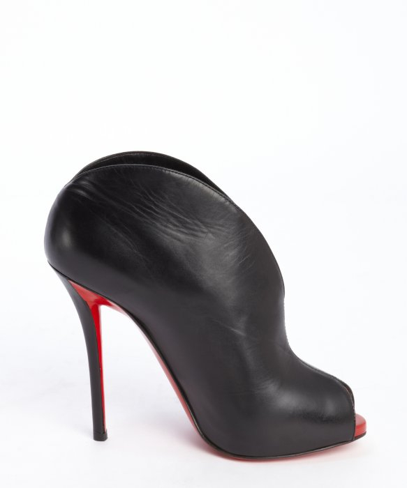 Christian louboutin Black And Red Leather \u0026#39;Chester Fille 120\u0026#39; Peep ...