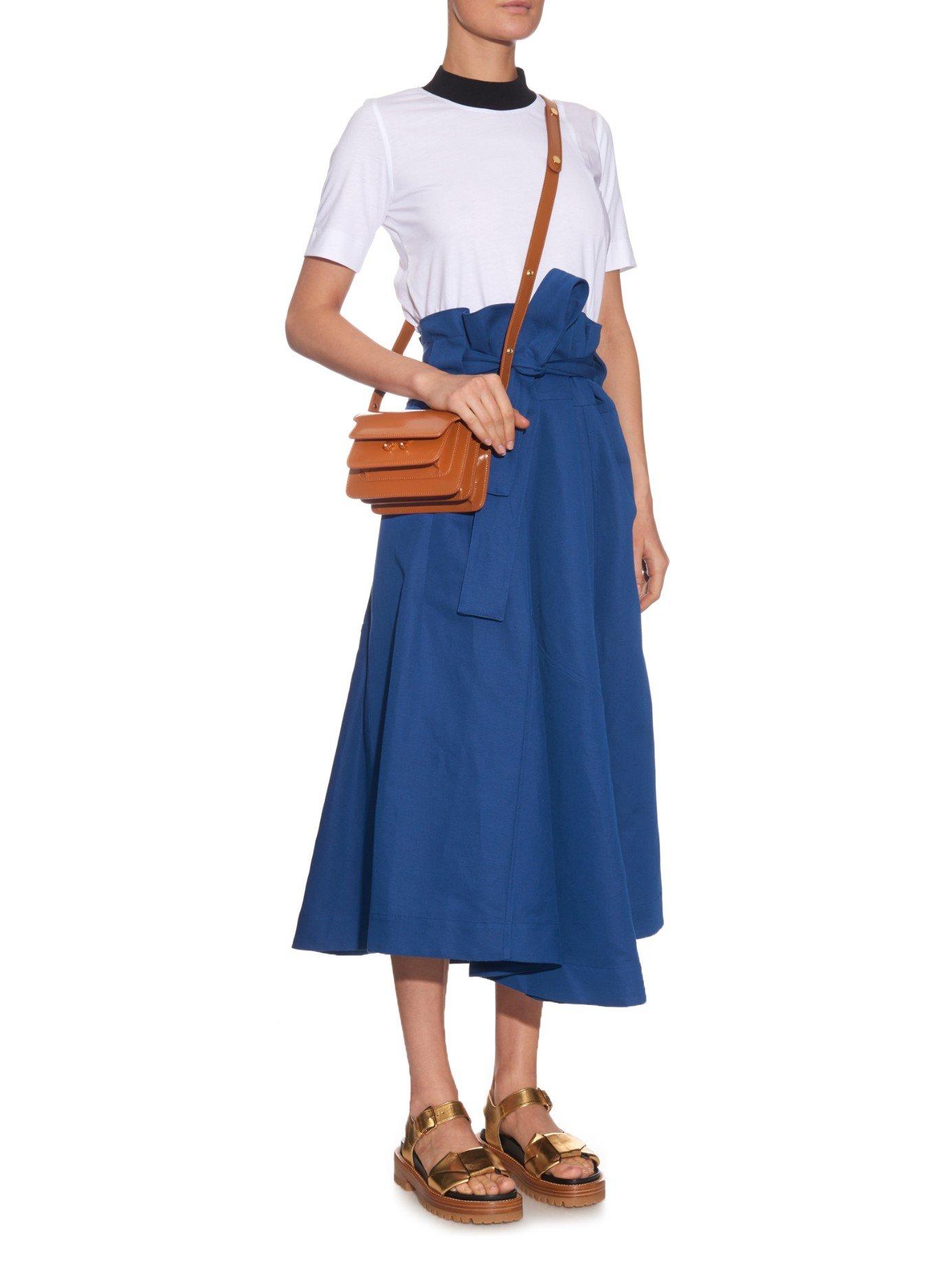 Lyst - Marni Trunk Mini Leather Shoulder Bag in Brown c90e4efaf7b53
