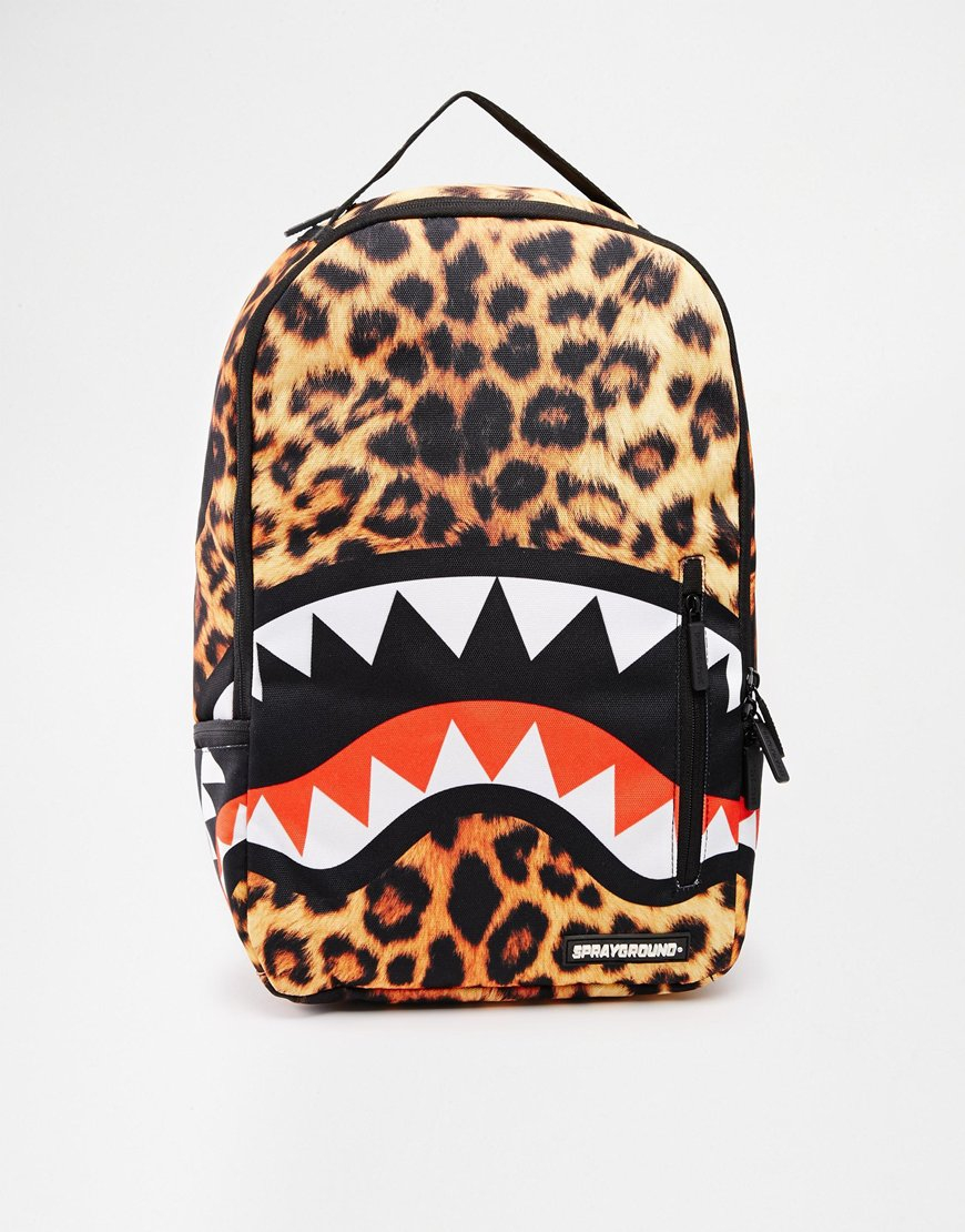 Sprayground The Leopard Shark Laptop Backpack For Men Lyst